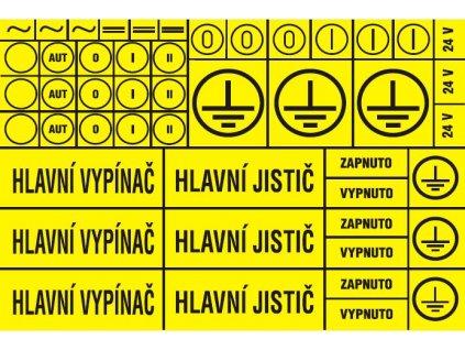 Aršík elektroznačení - 48 symbolů (typ 3x HV, HJ)