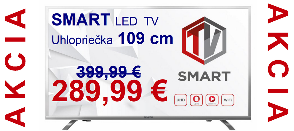 AKCIA SMART TV 109CM