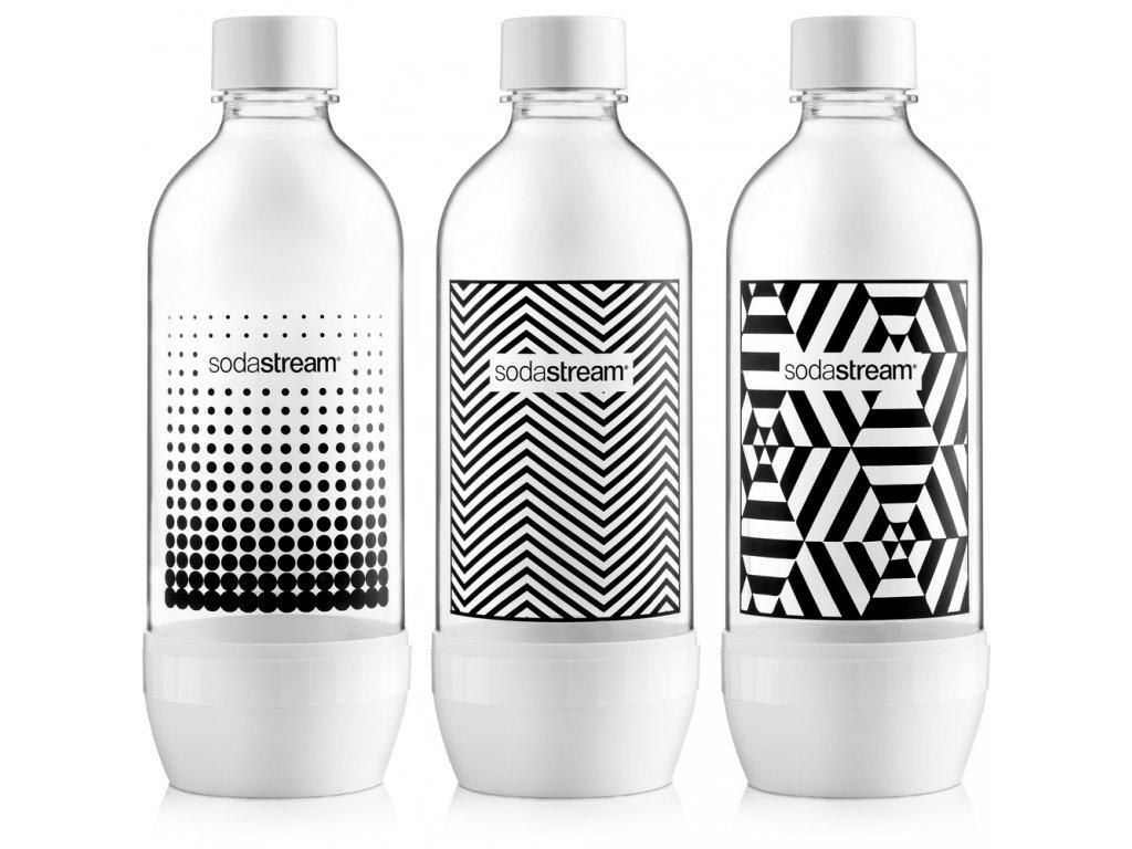 Fľaša TRIPACK 1l BLACK&WHITE 1
