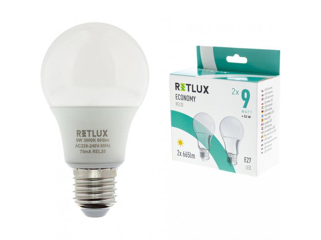 RETLUX REL 20 LED 2x9W E27