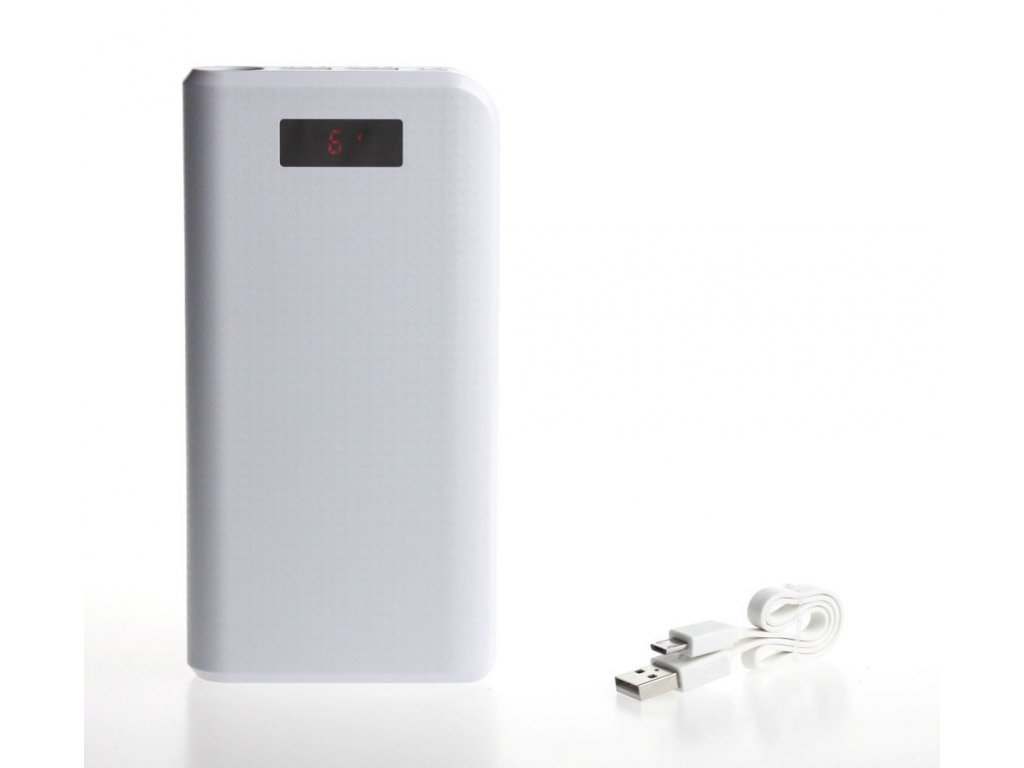 Proda AA 1042 carbon 30.000 mAh Powerbank biely 1