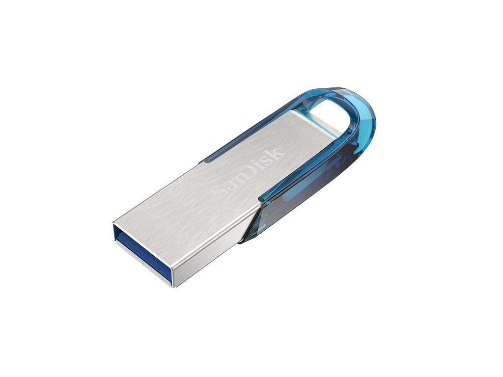 SanDisk Ultra Flair™ USB 3.0 128 GB, tropická modrá 1