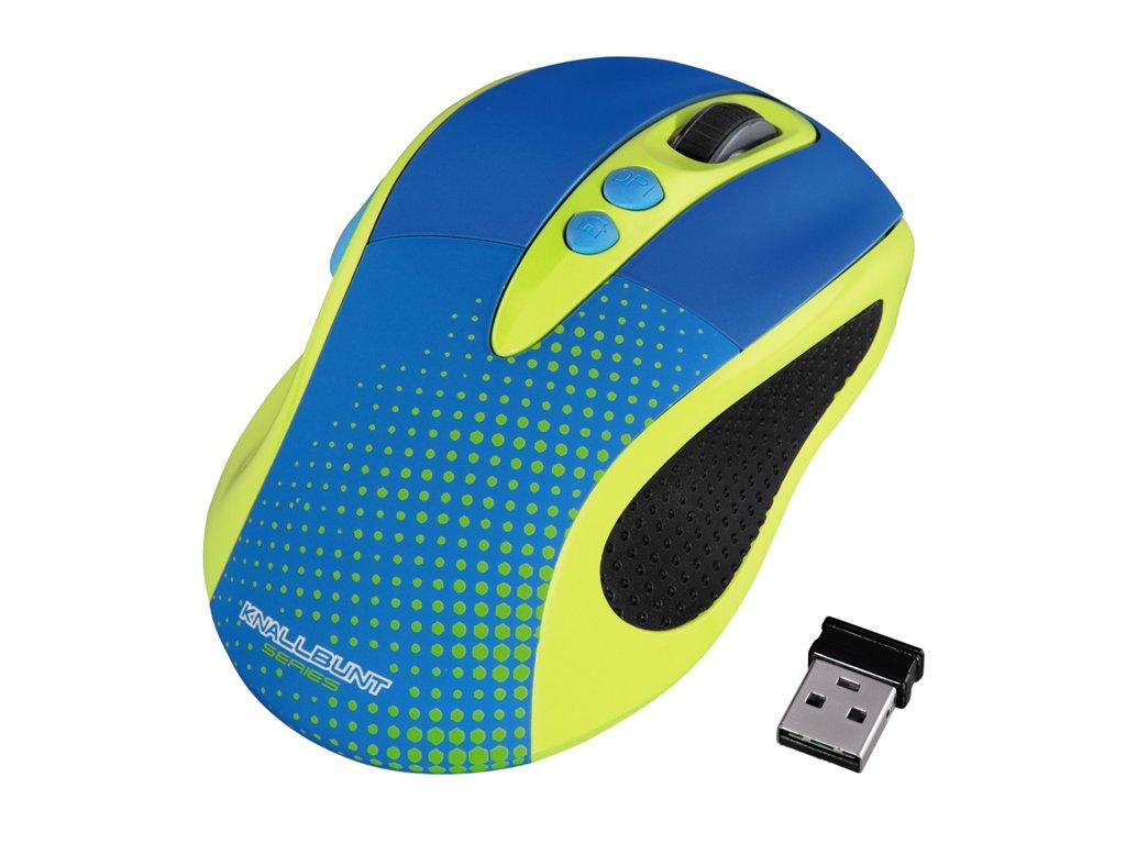 Hama Knallbunt, farebná optická bezdrôtová myš, žltá 1