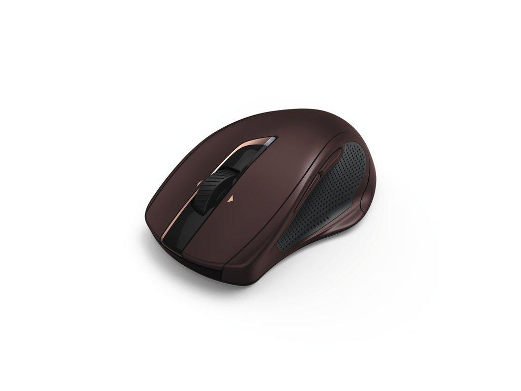 Hama bezdrôtová laserová myš MW 800, 7 tlačidiel, auto DPI, tichá, bordová 1