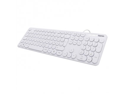 Hama klávesnica KC 500, biela 1