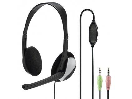 Hama PC Office stereo headset HS P100, čierny 1