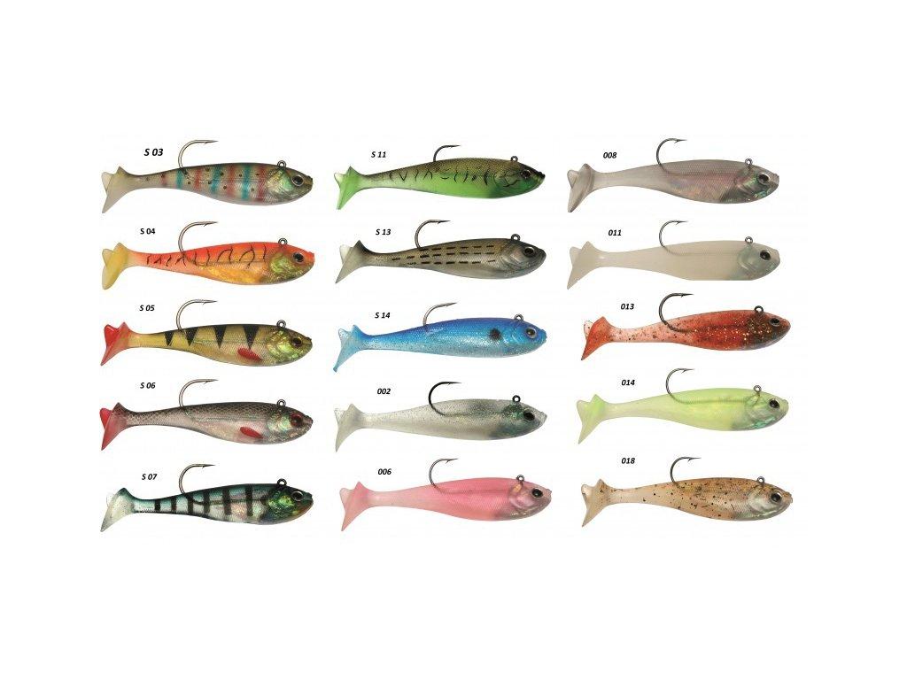 Ryba s háčkem 12cm 28g 4ks (Barva 008)