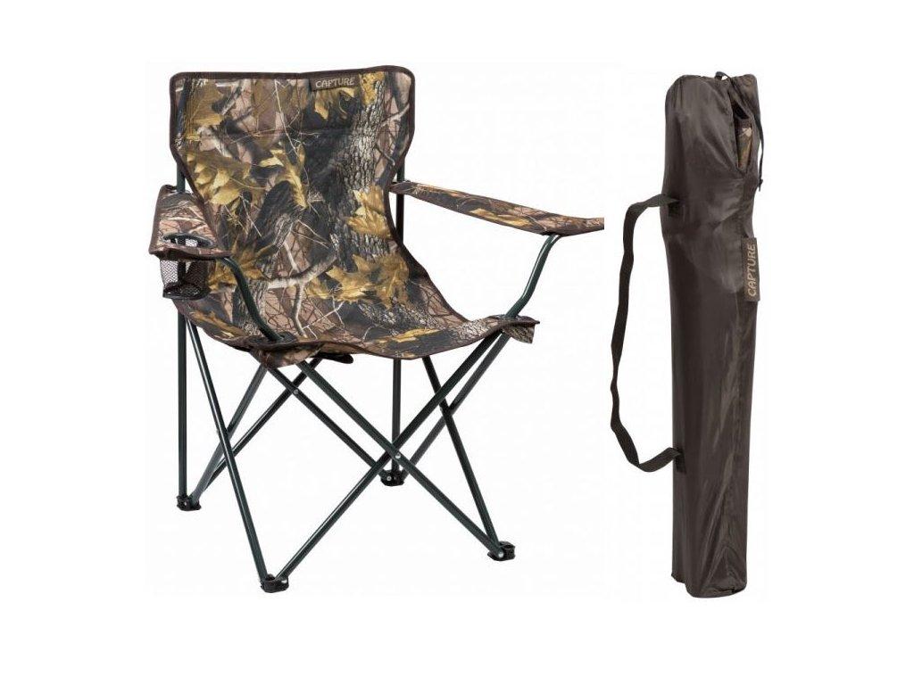 rybářská stolička maskáčová jaf capture