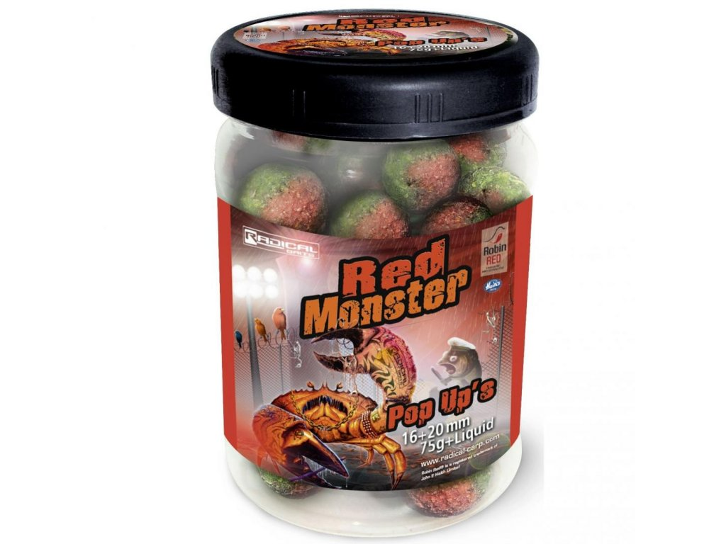 Plovoucí Boilies Radical Red Monster 16+20mm