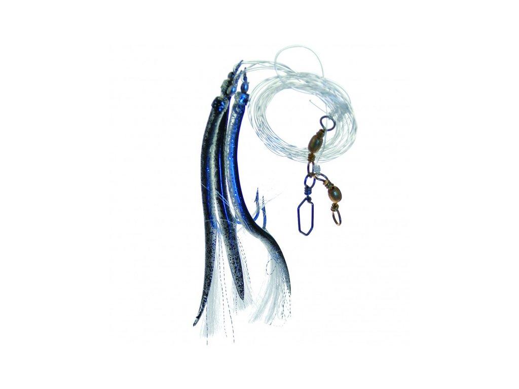 návazec moře trubičky černé (Velikost háčku 4/0)
