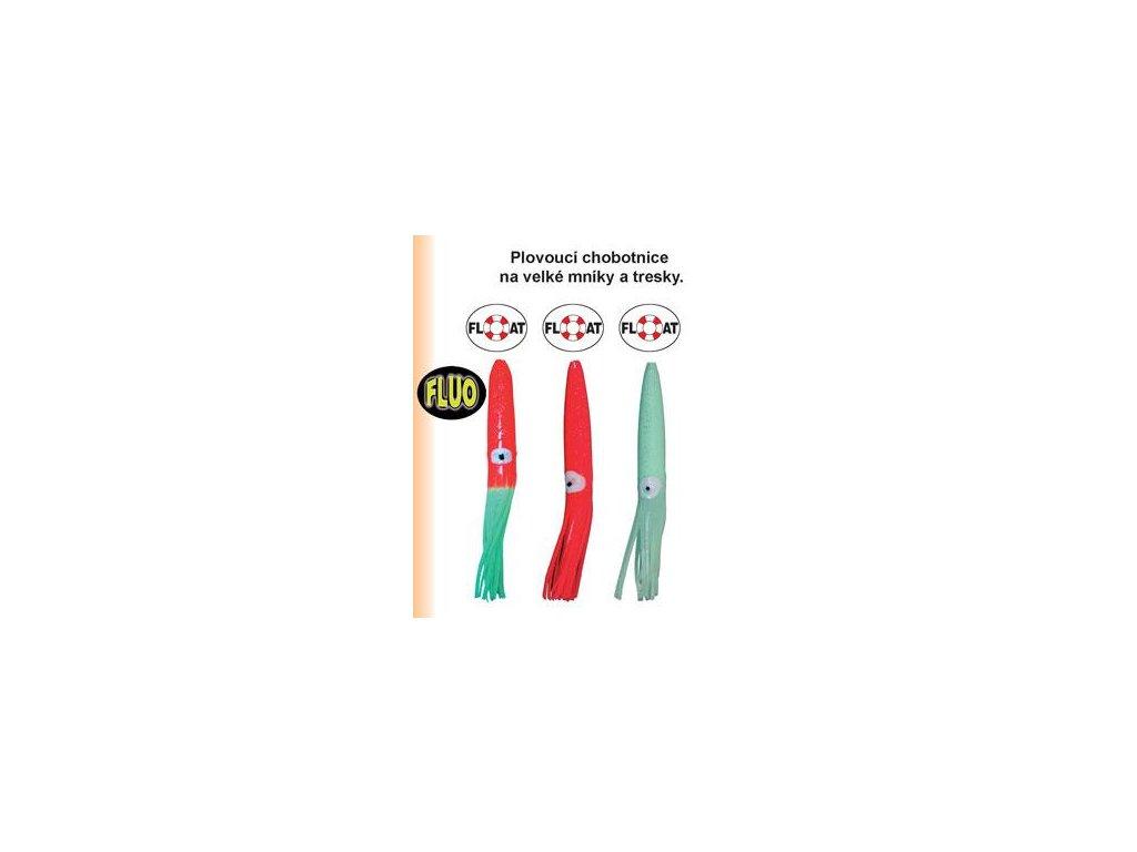 Plovoucí chobotnice k lovu na moři - červeno/zelená (Délka 16cm)