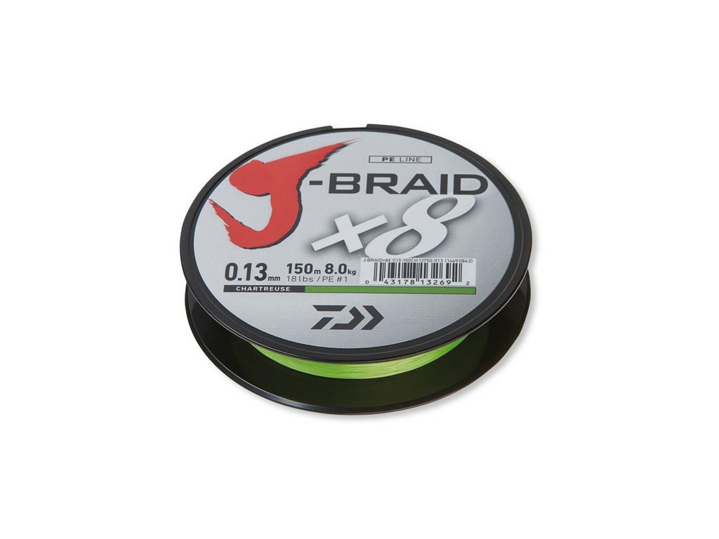Daiwa J-Braid X8 300m Chartrouse