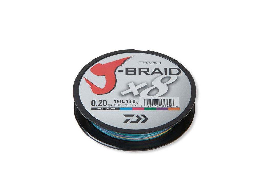 Daiwa J-Braid X8 Multicolor