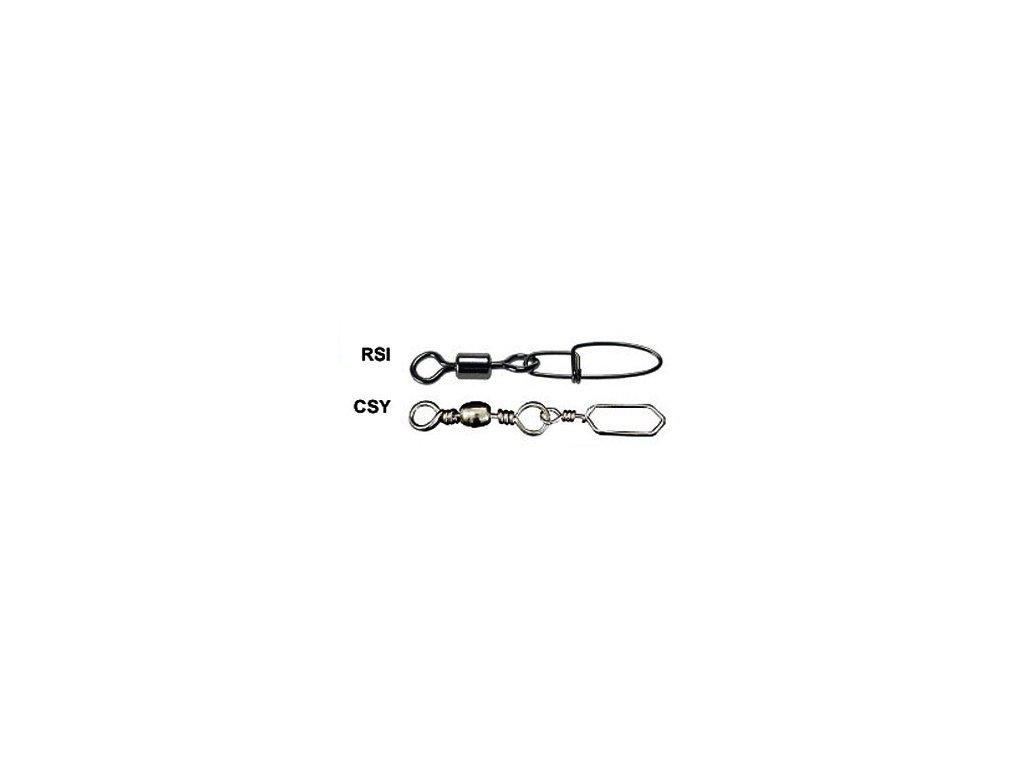 Karabinky s mořskou úpravou (karabinky a obratlíky vel. č. 2.0/65kg 5ks CSY)