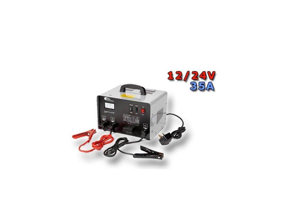 RING Profesionální nabíječka RCBT35 se startovacím zdrojem, 35A, 12V, 24V
