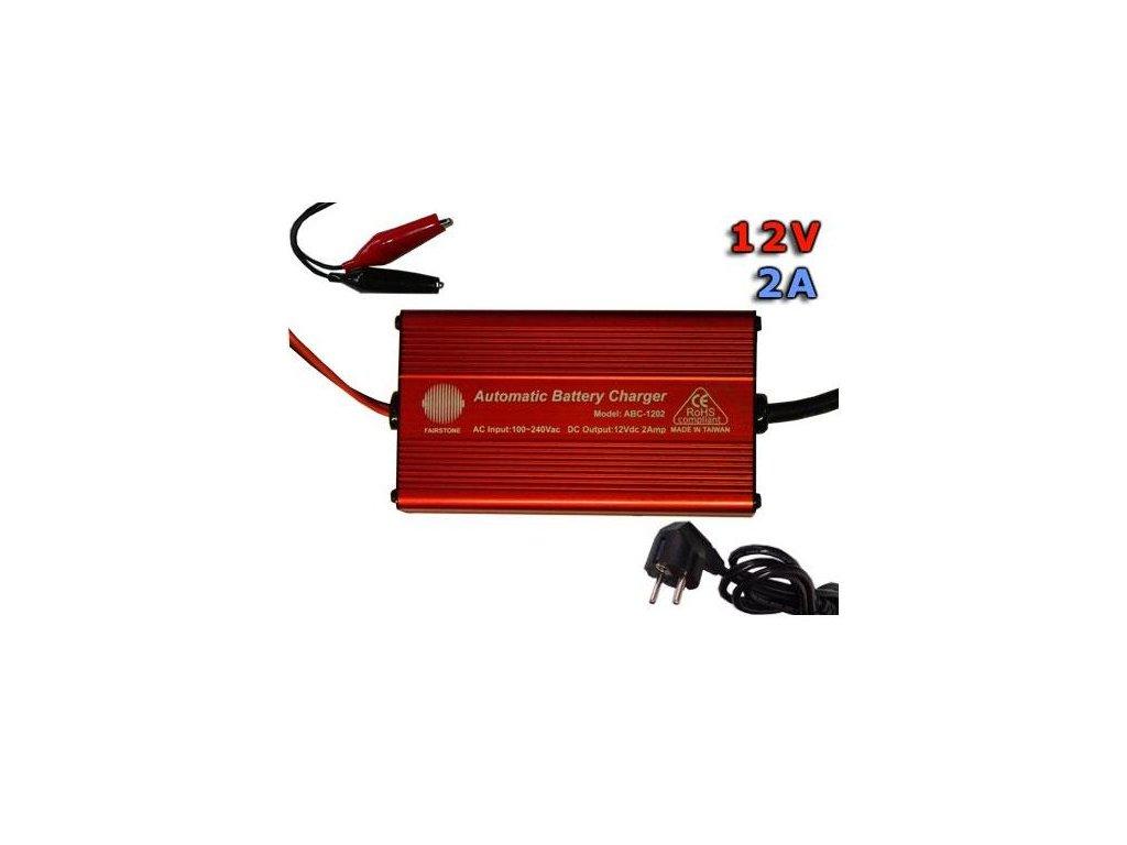 Nabíječka na olověné baterie 12V 2Ah FST 1202