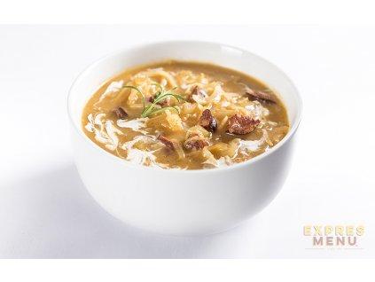 2 porce Expres Menu Zelná polévka s klobásou