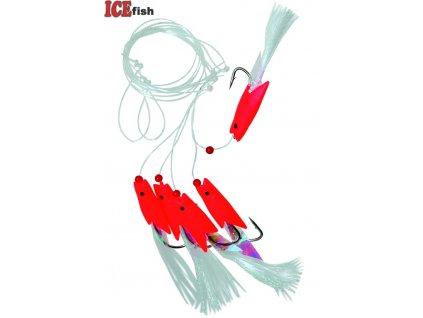 návazec moře - rybky peří RED 11142