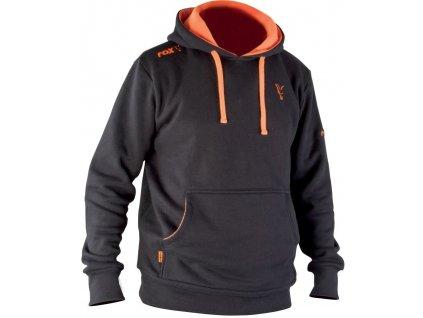 Fox Black & Orange Hoody Mikina s kapucí