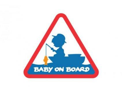25058 samolepka na auto baby on board