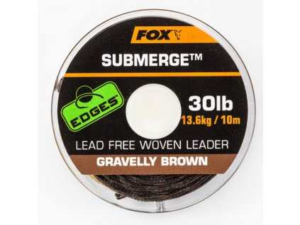 FOX Submerge lead free leader EDGES hnědá 30b