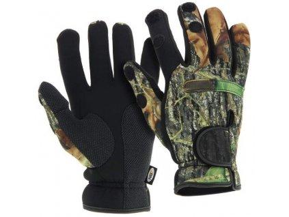 NGT Neoprén Rukavice Camo Gloves (Velikost L)