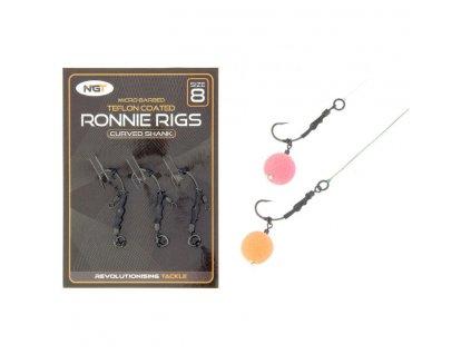 NGT Montáž Ronnie Rig & Teflon Hooks