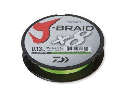Daiwa J-Braid X8 chart (Průměr 0,18mm 12kg)