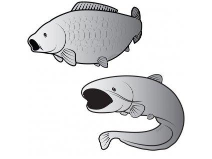 rybarska samolepka delphin silver