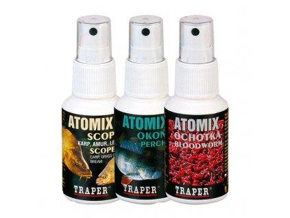 Posilovač na nástrahy Traper Atomix (Příchutě Kapr)