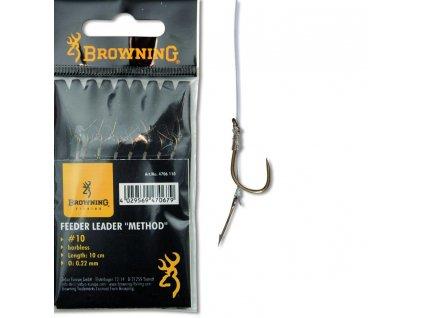 Browning návazec s trnem (Balení Vlasec 0,22mm háček 10)