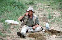 Charly on field trip in Botswana 2003