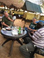 from left - Robert, Shinya KAWAI and our driver Daniel, Voi, Kenya, 2018