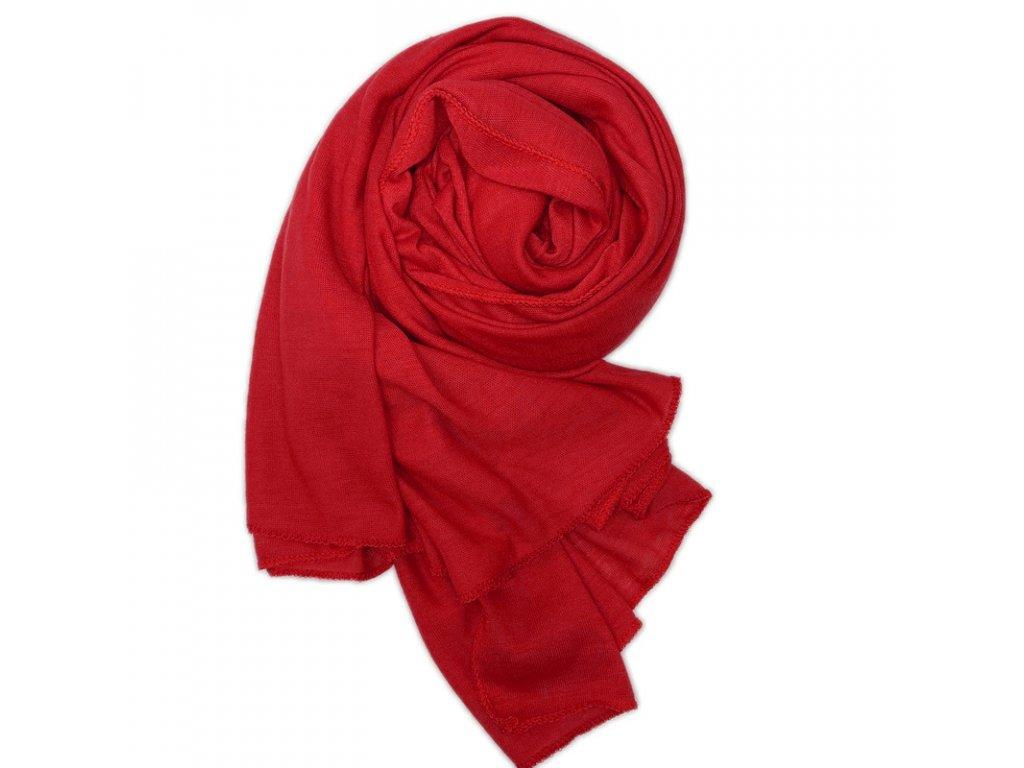 Dámský šál červený