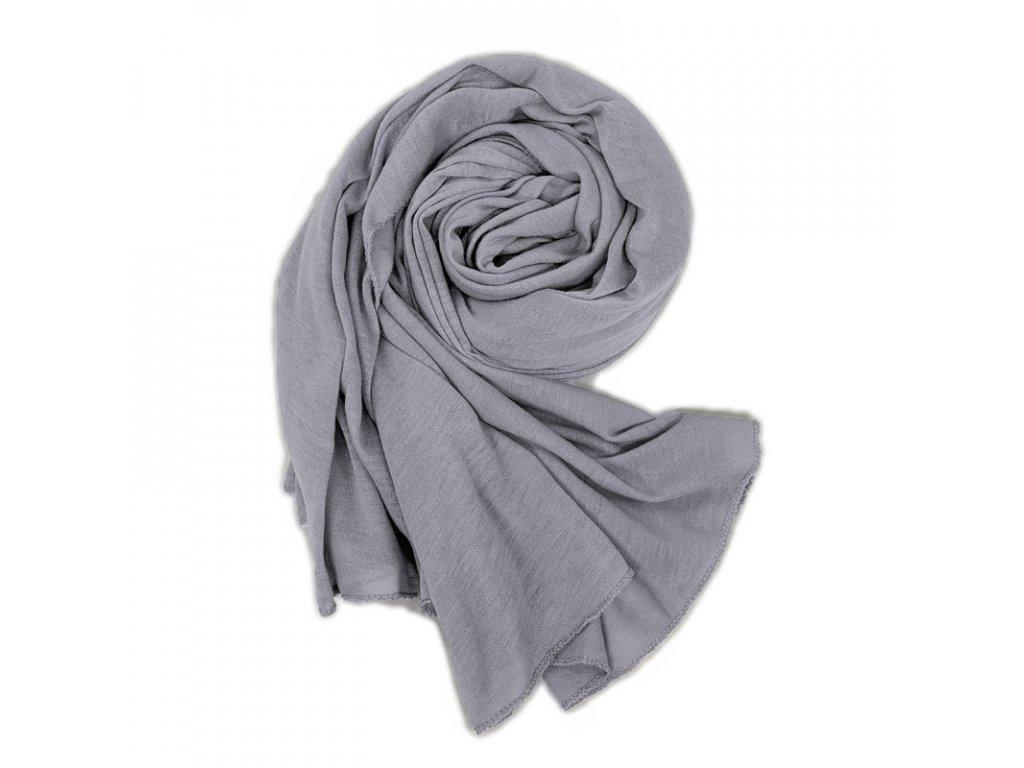 Dámský šál šedý