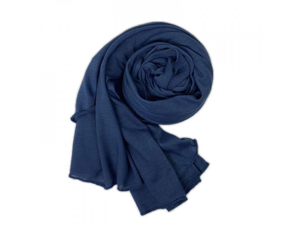Dámský šál tmavě modrý