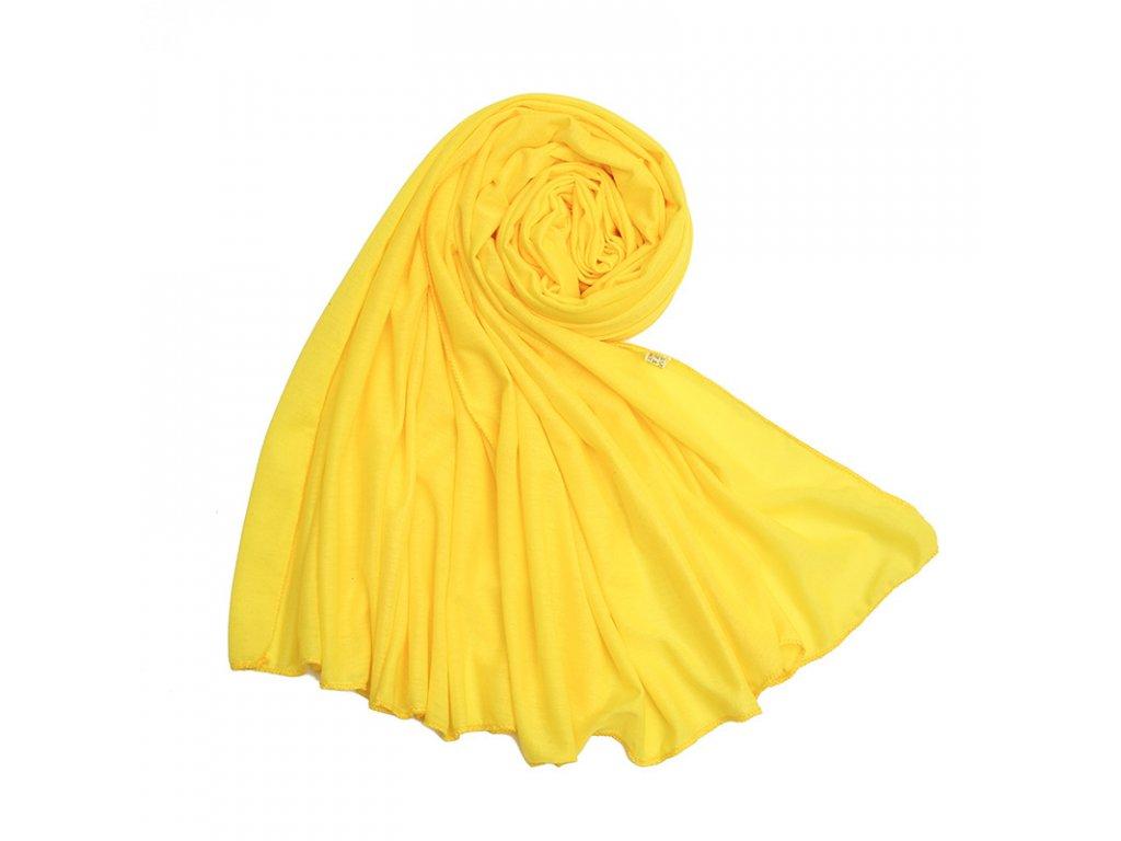 Dámský šál žlutý