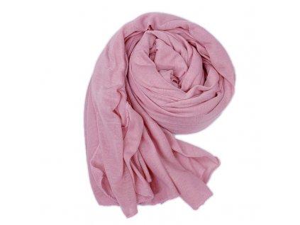 Dámský šál růžový