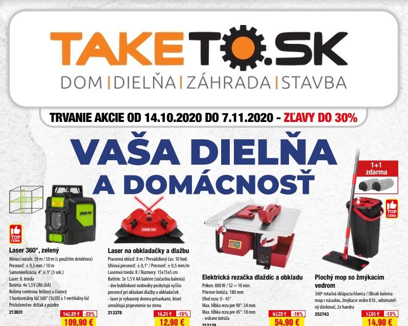 VAŠA DIELŇA A DOMÁCNOSŤ - 14.10 - 07.11.2020
