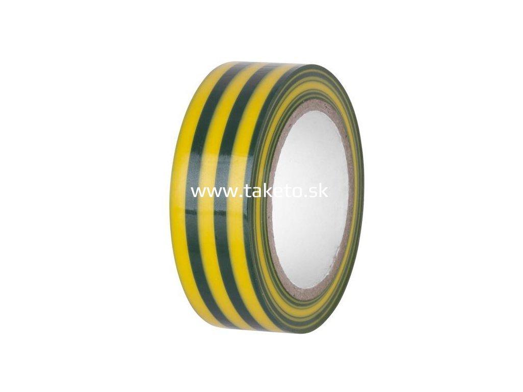 Páska E130YGR, zelenožltá, izolačná, 19 mm, L-10 m, PVC  + praktický pomocník k objednávke