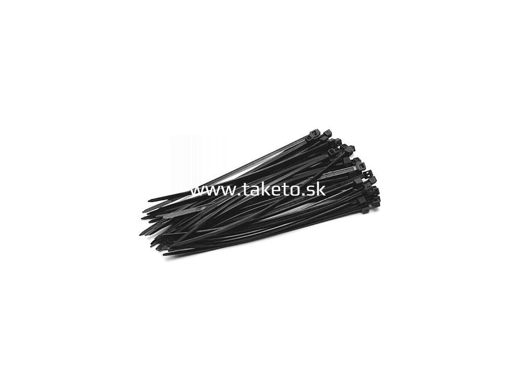 Páska sťahovacia Strend Pro CT66BL, 200x3,6 mm, 50 ks, čierna, nylon, viazacia  + praktický pomocník k objednávke