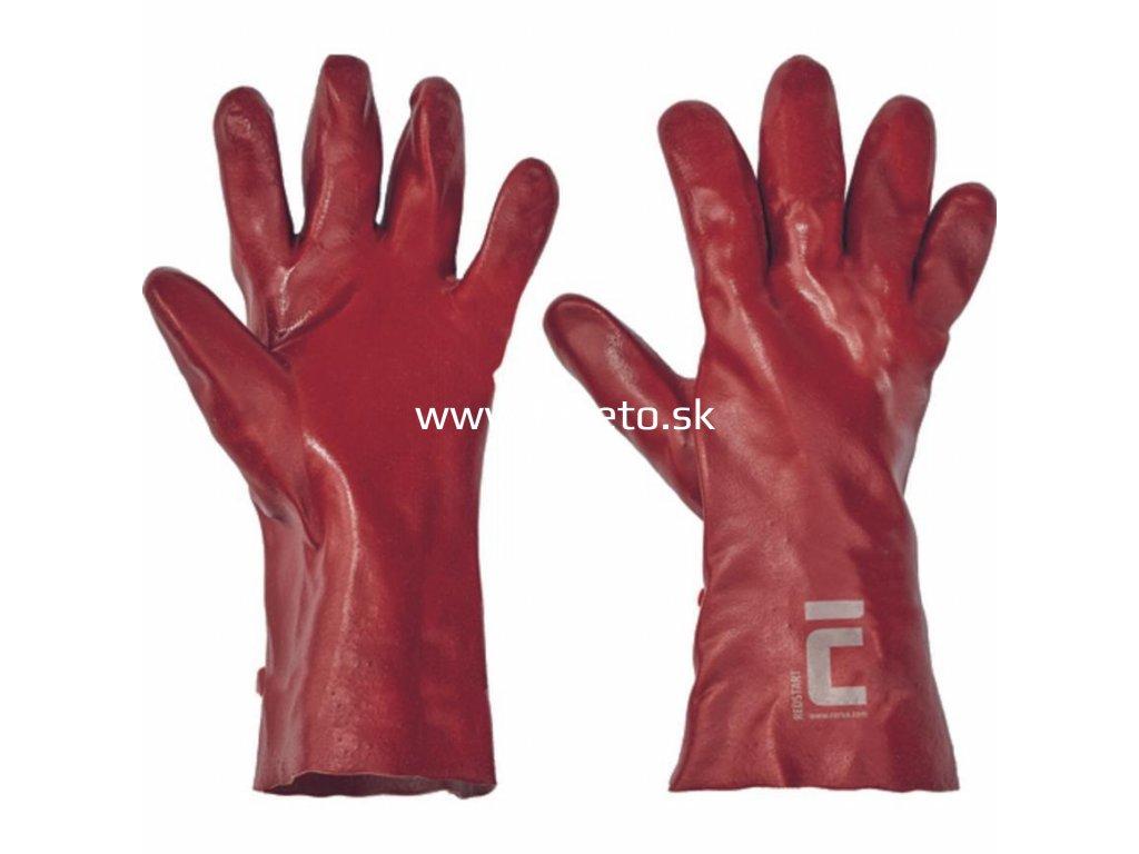 Rukavice REDSTART 10, 35 cm, povlak PVC  + praktický pomocník k objednávke