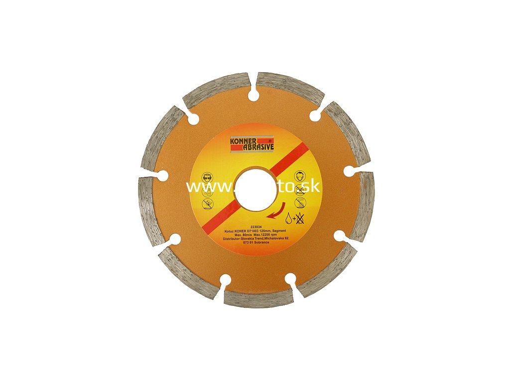 Kotúč KONNER D71003 125 mm, diamantový, segment  + praktický pomocník k objednávke