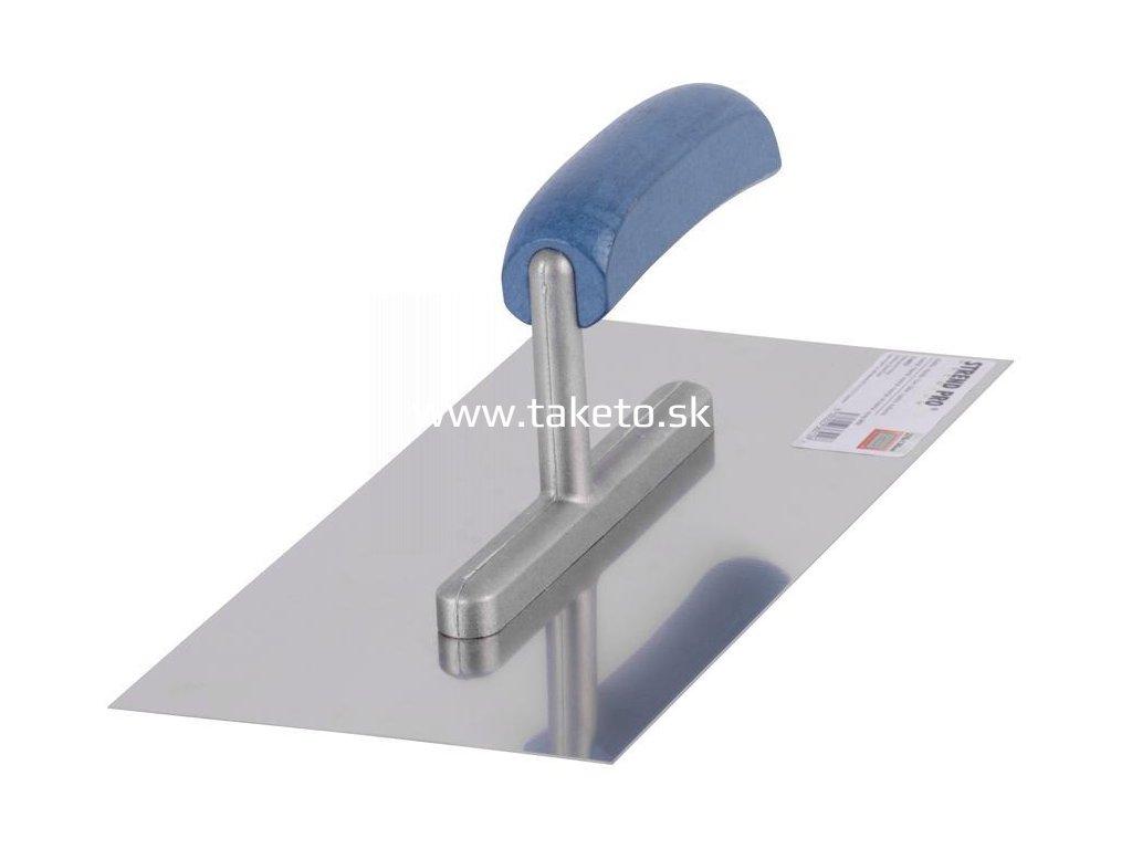 Hladítko Strend Pro Premium, 270x130 mm, rovné, nerezové, s drev. rúčkou  + praktický pomocník k objednávke