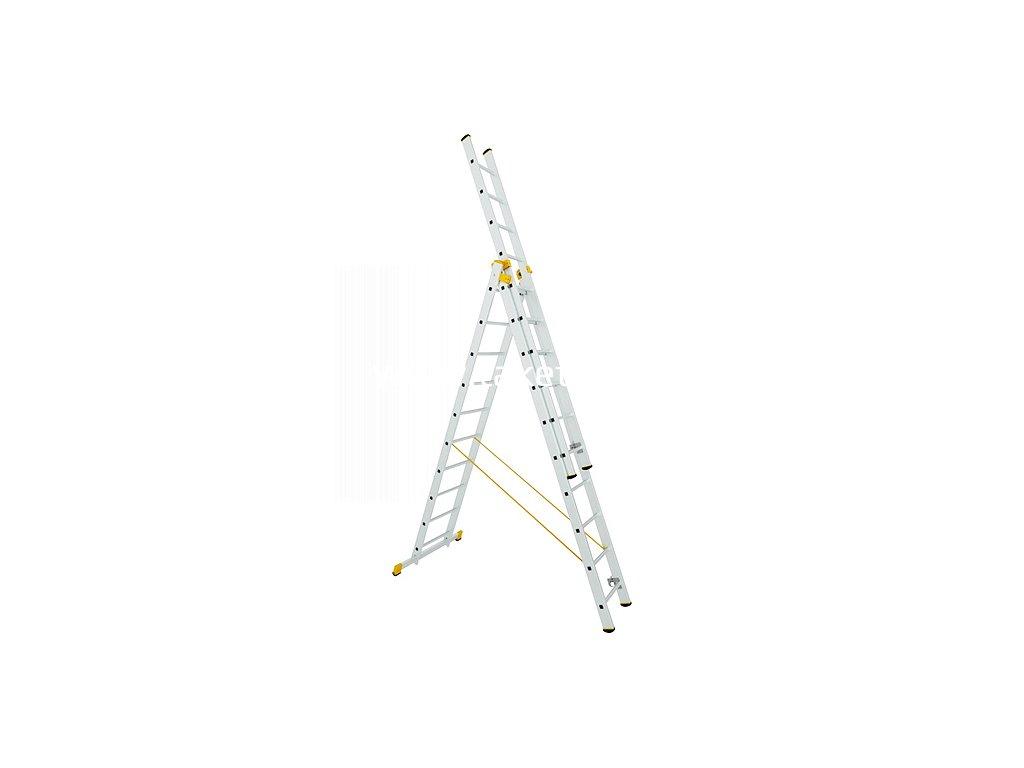 Rebrík ALVE 8612, 3x12, univerzálny, A356 B865  + praktický pomocník k objednávke