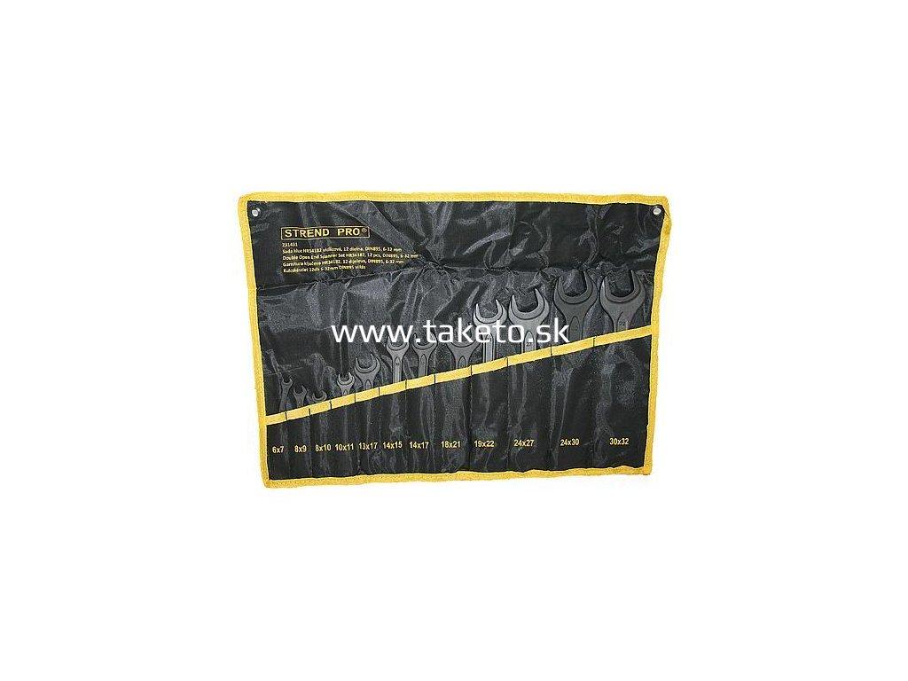 Sada kľúčov Strend Pro HR34182 vidlicová, 12 dielna, DIN895, 6-32 mm  + praktický pomocník k objednávke