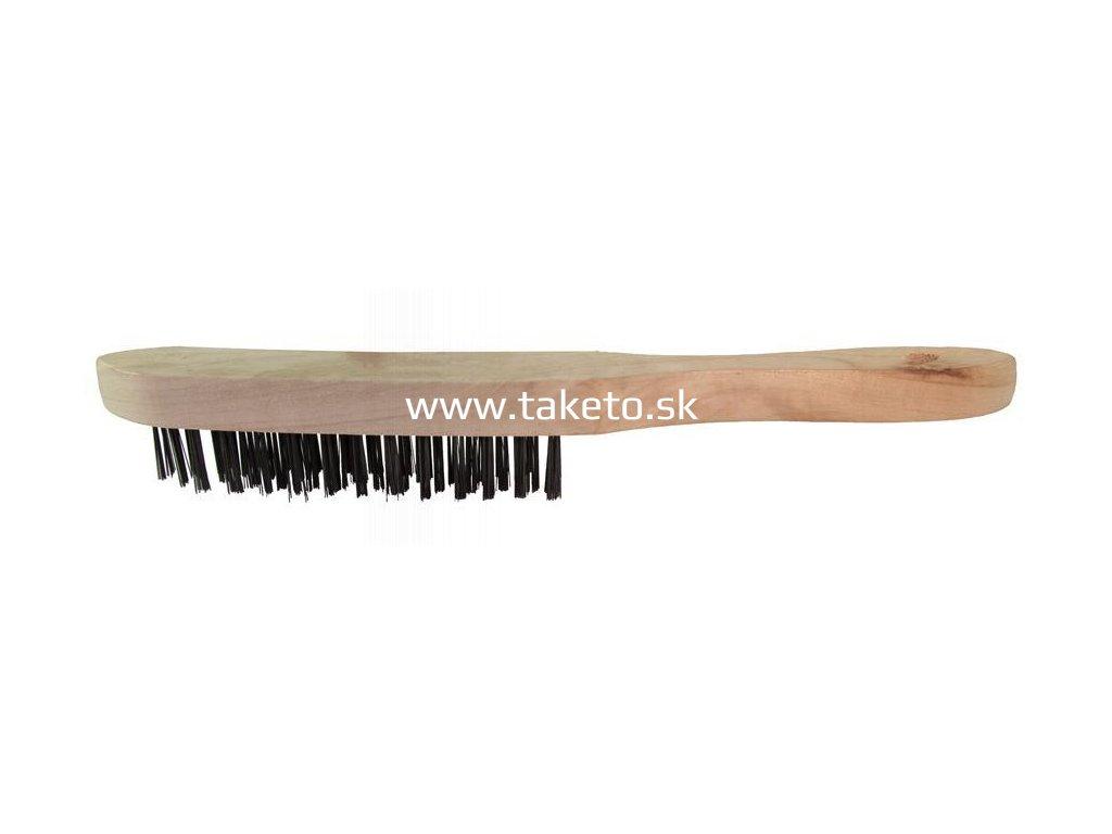 Kefa Strend Pro WB308 1406, 4 radová, oceľová, drevená rúčka  + praktický pomocník k objednávke