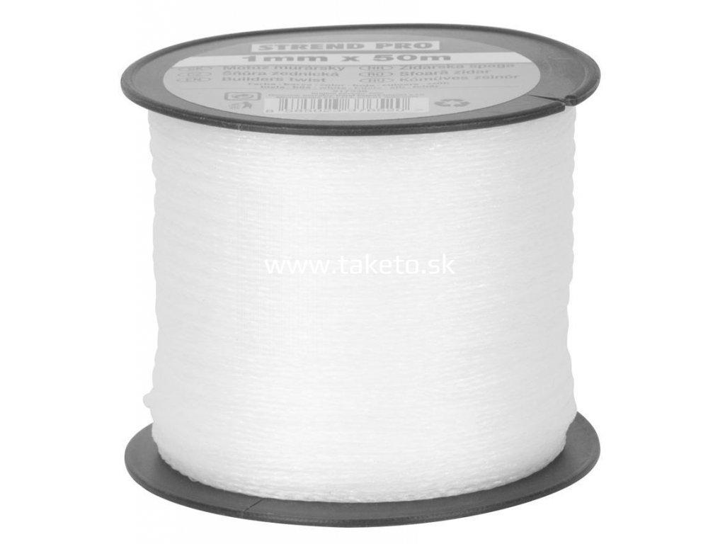 Motuz STREND biely, 1,0 mm, 50 m, murársky  + praktický pomocník k objednávke