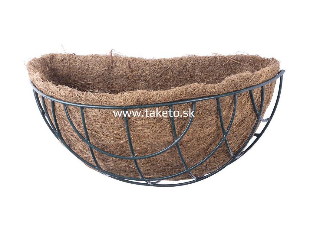Kvetináč LC-CocoB-30 • oceľ/kokos, nástenný kruh, 30x14x13 cm  + praktický pomocník k objednávke