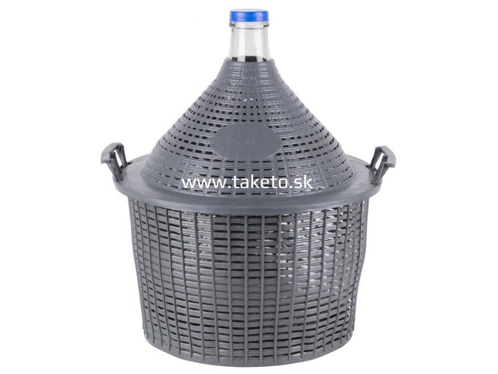Demižón Strend Pro Cada Inco, sklo/plast, 25 lit., 520x415/330 mm  + praktický pomocník k objednávke